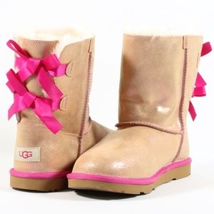 Ugg Bailey Bow II Shimmer Water Resistant Boots